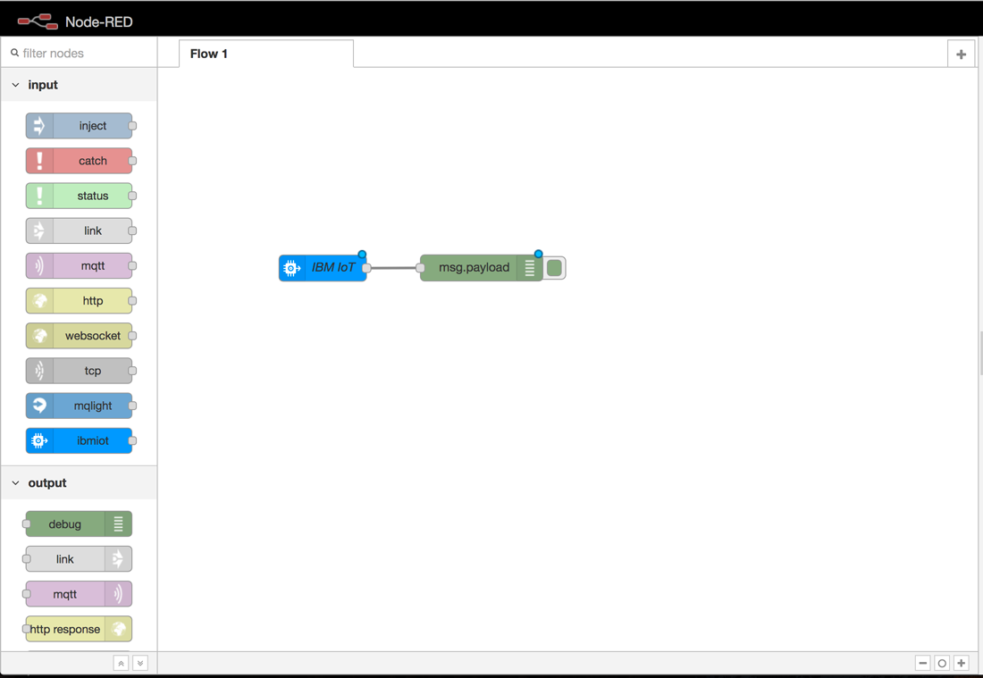 screen capture showing the connection between nodes