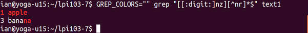 Using color for grep matches as described above.
