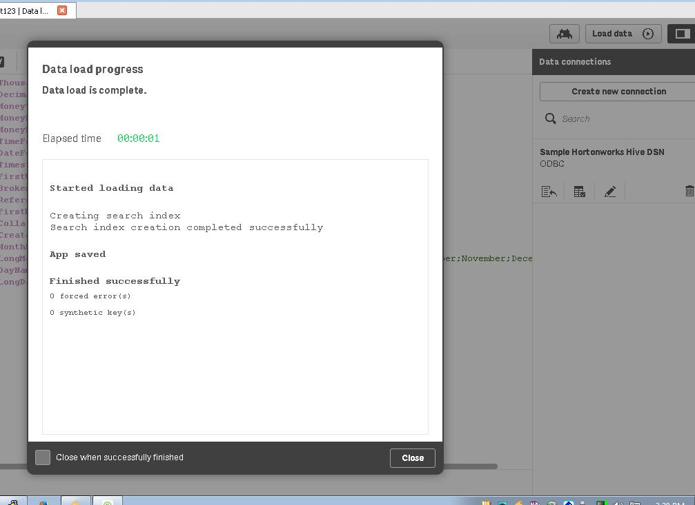 Qlik Sense integrated with Hortonworks Data Platform (HDP