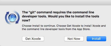 Install XCode tools