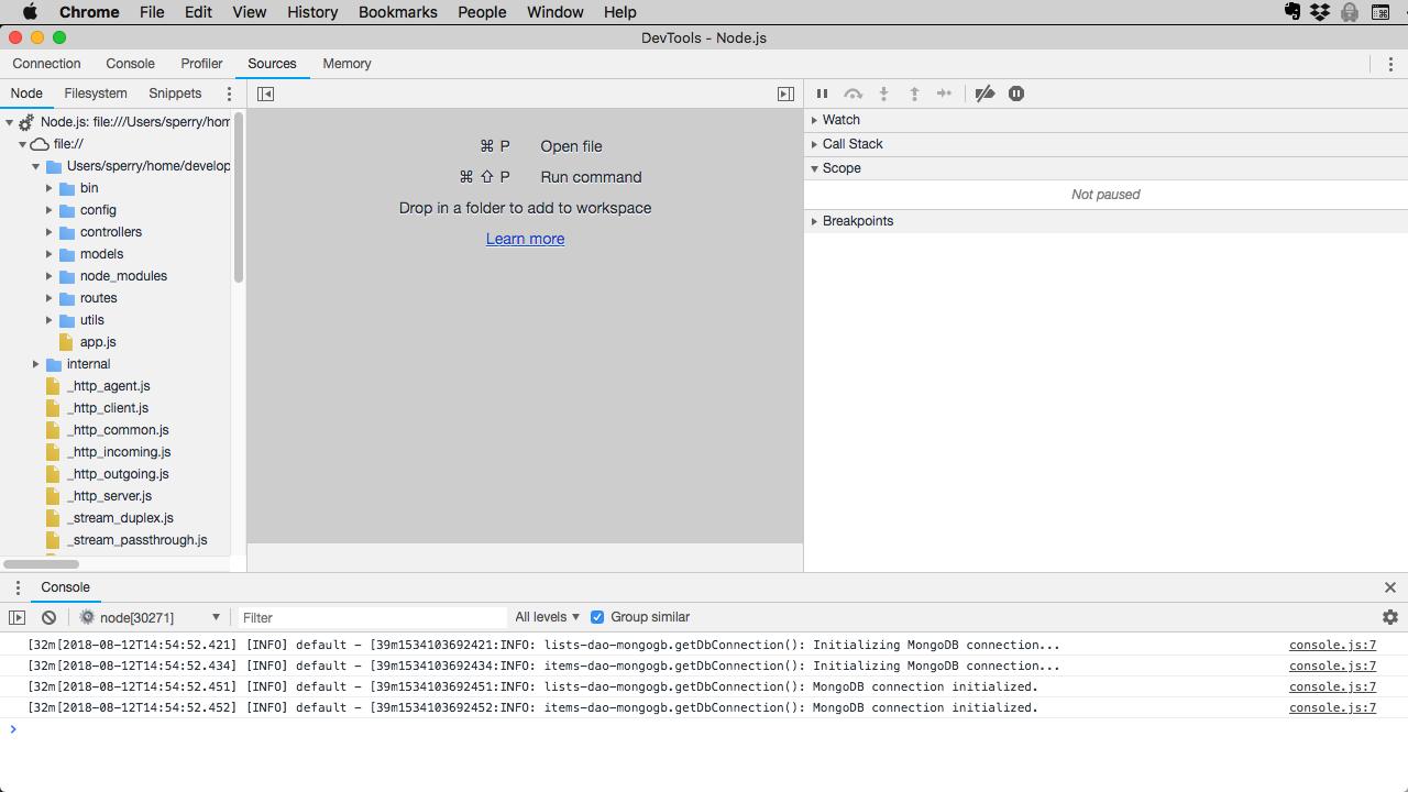 The Chrome DevTools UI