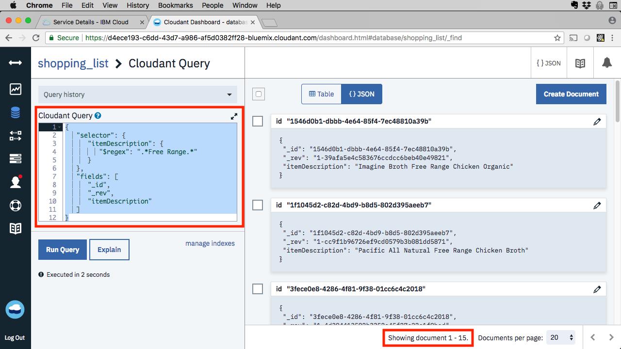 Learn Node js, Unit 14: Node js with Cloudant DBaaS – IBM