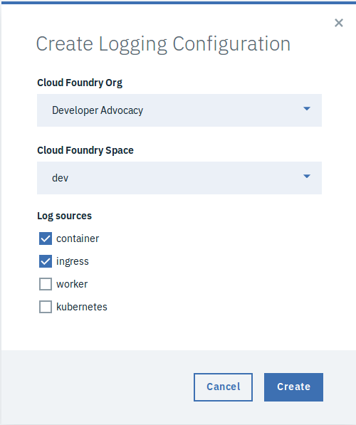 Create Logging Config