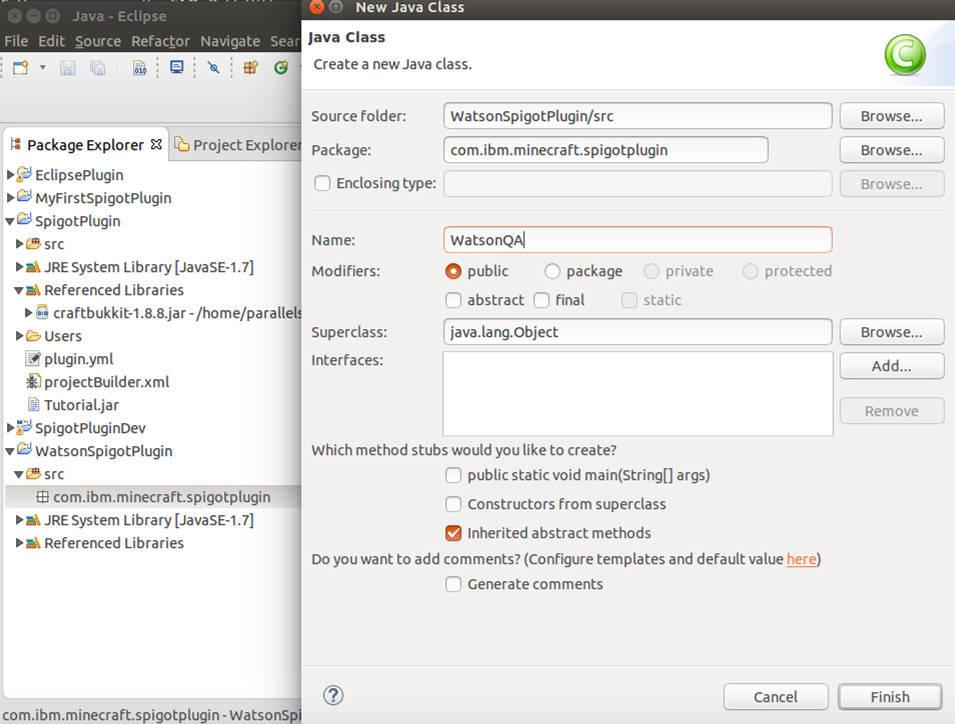 Integrating Watson into Minecraft on IBM Cloud – IBM Developer