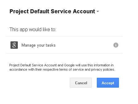 Google API authorization