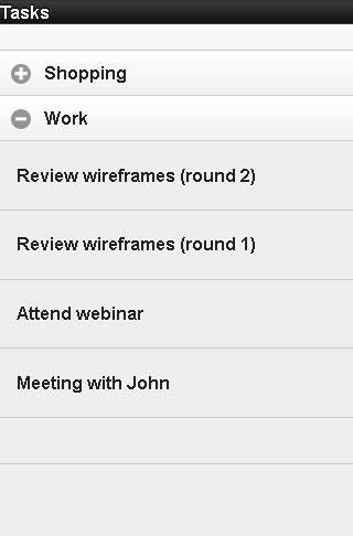 Task listing