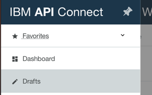 API Connect menu