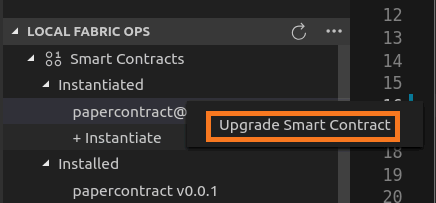 Upgrade the smart contract using IBP VSCode extension