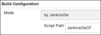 Script Path for JenkinsfileCF