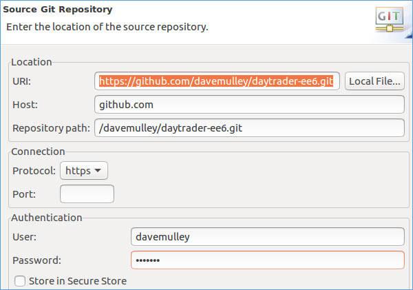 GitHub Eclipse Configuration