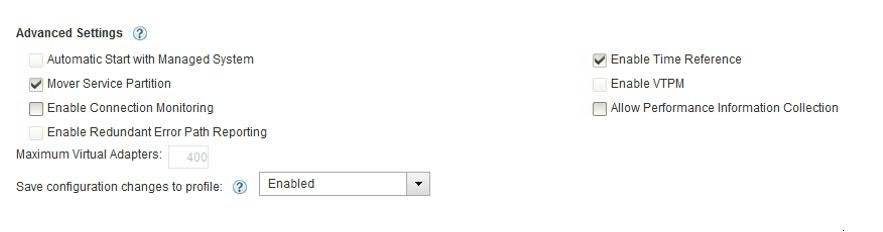 Enable Time Reference setting for VIOS