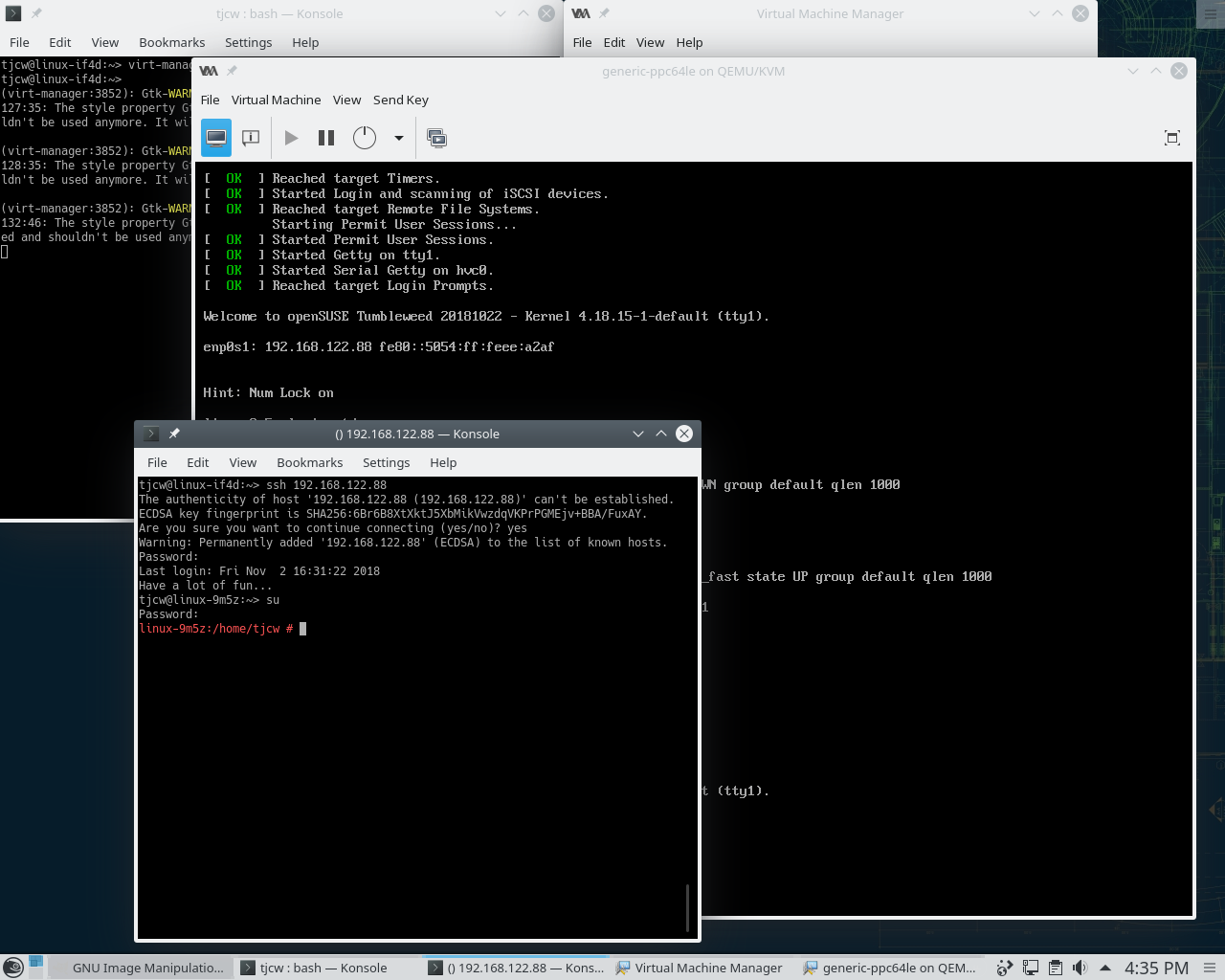 Setting up an x86 system to build and package software for