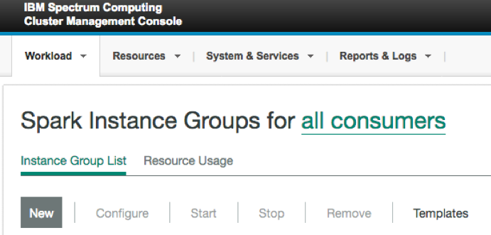 Spark instance group window