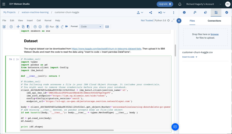 Build models using Jupyter Notebooks in IBM Watson Studio